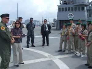 米艦ブルーリッジ搭載の要人用ヘリコプター