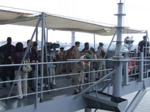 米艦ブルーリッジの艦橋(ブリッジ)スターボード側