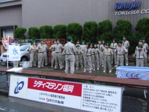 福岡シティーマラソン給水奉仕
