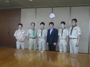 菊スカウト県知事訪問