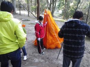 A型テント スカウトキャンプ