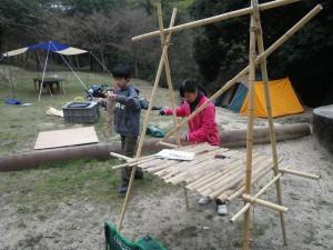 ボーイ隊キャンプ設営 はやぶさ班