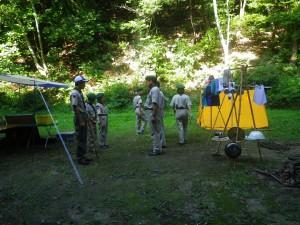 ボーイスカウト福岡4団夏季キャンプ