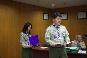 平成28年度日韓スカウト交歓計画閉会式