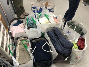 難民支援衣料回収プロジェクト