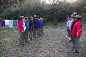 スカウト隊冬期耐寒キャンプ