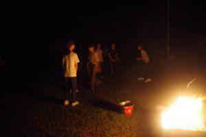 「新たな生活様式」によるキャンプファイア
